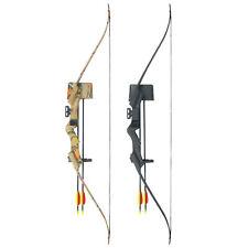 20 lb Black / Camouflage Camo Archery Hunting Recurve Bow Arrows Compound 40 30