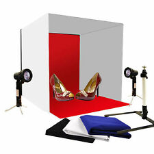 "40cm 16"" Photography Studio Photo Light Tent Soft Box Cube Backdrop Lighting Kit"