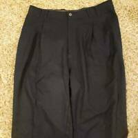 Tommy Bahama Womens Dress Career Pants Blue Pleated Front Pockets 100% Silk 33