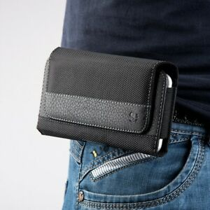 Heavy Duty Pouch Case for Cell Phone w/ Holster Clip Belt Loops iPhone 12 11 Pro
