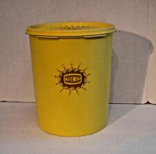 "Vintage Tupperware Canister Set Harvest Gold   ""Cookies""  807-2"