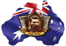 NED KELLY AUSTRALIAN FLAG  STICKER NED KELLY SOUTHERN CROSS STICKER PAIR