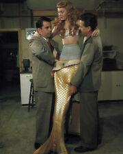 MR. PEABODY AND THE MERMAID ANN BLYTH PUTTING ON COSTUME 8X10 PHOTO