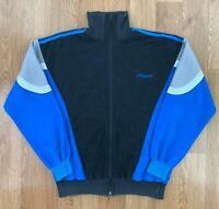 Vintage ADIDAS Mens VELOUR Track Jacket | Casuals Trefoil 90s | Medium M Black
