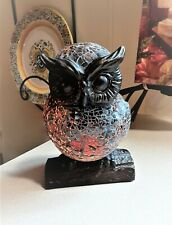 Mosaic like Style Owl Night Light Bedside Table Lamp Desk Home Decoration