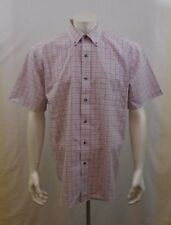 Denver Hayes Wrinkle Resistant Tatershall Reds 100% Cotton Short Sleeve Shirt