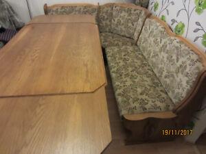 Eckbankgruppe Landhausstil Eiche hell Sitzecke Eckbank Tisch ausziehbar 2 Stühle