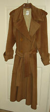 CELINE Paris Wool Double Breasted Lined Camel Oversize Vintage Coat Size 40FR
