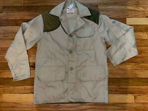 Vintage SafTbak Mens Tan Shooting Jacket Paul Harrell (ish) Style, Size S