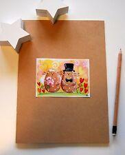 diario degli sposi- quaderno con copertina decorata con gatti sposi matrimonio