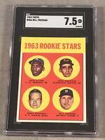 1963 TOPPS #466 ROOKIE STARS BILL FREEHAN SGC NM+ 7.5 RC