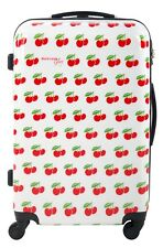 Lightweight hard shell Suitcase cherry print 4 wheeled 24 inch, Luggage Case