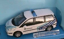 PEUGEOT 807 SUV POLITIE POLICE BELGE CARARAMA 1/43 BELGIE MONOSPACE VITRE