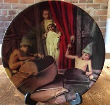 'The Elves And The Shoemaker' Plate By Konigszelt Bayern Porcelain 20cms Across