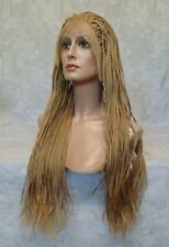 Lace Front Long Braided Light Brown Full synthetic Wig - 260