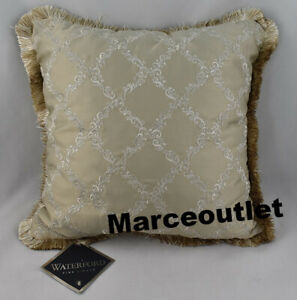 """Waterford Linens Annalise 18"""" x 18"""" Decorative Pillow Gold"""
