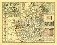 Northumberland Newcastle replica vecchia carta John velocità 1610 Full Size Print regalo?