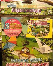 3-D Origami Bird Animal Paper Folding Craft Kit Instructions Patterns w/ Mat NIB