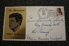 VERY RARE JFK FIRST DAY COVER 11/22/73 SIGNED BY KENNEDY'S  BROTHERS & SISTERS