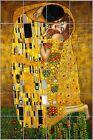Gustav Klimt The Kiss - Glossy Ceramic Tile Art Kitchen/Bathroom Decorative Tile