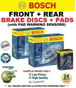 BOSCH FRONT + REAR DISCS & PADS + SENSORS for BMW 3 Touring F31 320 d 2011-2016
