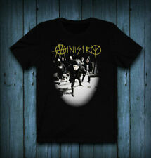 New Ministry Band Logo Black T-Shirt Cotton #Saf