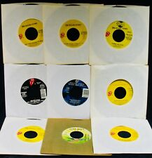 THE ROLLING STONES~9 Radio Station 45's-Mick Jagger~Keith Richards~Mick Taylor