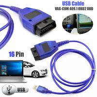 New USB Cable KKL VAG-COM 409.1 OBD2 II OBD Diagnostic Scanner VW Audi Seat VCDS