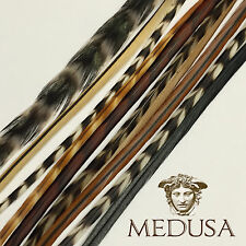 Natural Real Feather Hair Extensions Whiting  Rooster Saddle Grizzly 10 pack