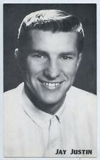 1960'S MUSIC SHOP PROMO CARD JAY JUSTIN HMV RECORDS ADELAIDE SOUTH AUST L651