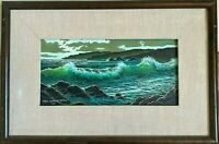 MANUEL LIZARRAGA SEASCAPE Oil on Canvas, signed and dated 2001