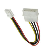 """5.25"""" 4 Pin Molex To 3.5"""" Floppy Drive FDD Internal Power Cable Adaptor Cabledup"""