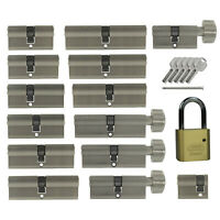 2x gleichschließend Profil oder Knauf Tür Zylinder kombinieren +5 Schlüssel