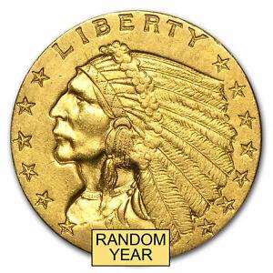 SPECIAL PRICE! $2.50 Indian Gold Quarter Eagle AU (Random Year)