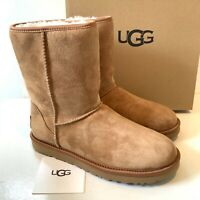 Women's Ugg Boots Size UK 6 Classic Short Crystal Bow Suede Boxed