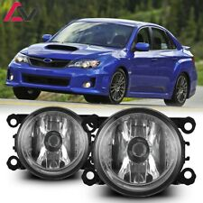 12-17 For Subaru Clear Lens Pair Bumper OE Fog Light Lamp+Wiring+Switch Kit DOT