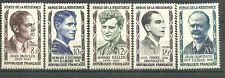 """France 1957. Complete Set 5 new stamps *  """"Heroes of the Resistance""""   (6016)"""