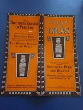 1937 Southern Railway of Peru Land Of The Incas Brochure