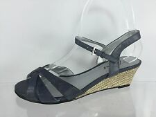 Trotters Womens Dark Gray Leather Sandals 5.5 M