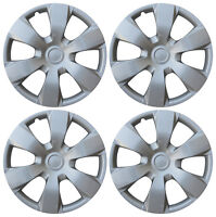 """4 Pc Hub Cap Set Silver Fits 2007 08 09 TOYOTA CAMRY 16"""" Wheel Cover Caps Covers"""