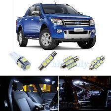 Nice Car White LED Interior Light Upgrade Kit For Ford Ranger XL XLT 2011+ x4Pcs