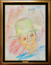 Purvis Young Original Painting Signed Modern Abstract Street Artwork Portrait