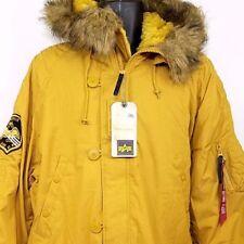 Alpha Industries Mens Parka Jacket Bomber Faux Fur Altitude MJA43917C1 Size 2XL