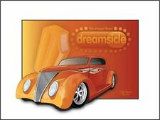 37 Ford Dreamcycle  Custom car poster Art
