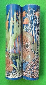 "2 Rolls Tropical Fish Sea Life Corral Self Stick Wall Border Decoration 5yd x 7"""