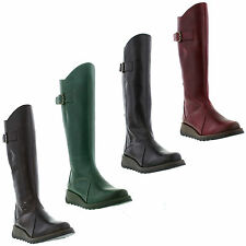 FLY London Wedge Mid-Calf Boots for Women