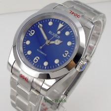 Bliger Automatic Men's Watch Japan NH35 Blue Dial Sapphire Glass 904L Bracelet