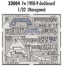 Eduard 1/32 Focke Wulf Fw 190D-9 instrument panel for Hasegawa # 33004