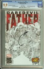 DAREDEVIL: FATHER #1 CGC 9.9 (MINT!) WHITE PAGES / SIGNED BY JOE QUESADA ON CASE