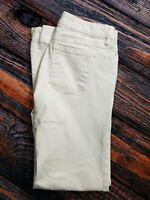 """Ann Taylor Loft White Denim Modern Flare Stretch Jeans Size 4 Inseam 30"""""""